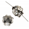 Rhinestone Bead 6mm Round Large Stone Vintage/Crystal